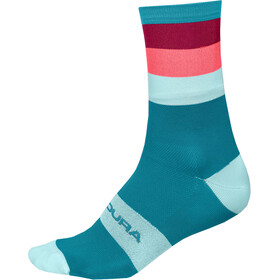 Endura Bandwidth Stripe Socks Men paisley blue